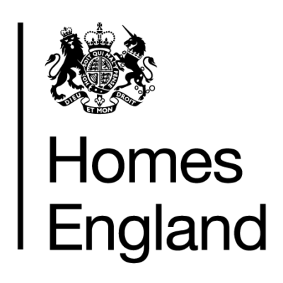 Logo for Homes England