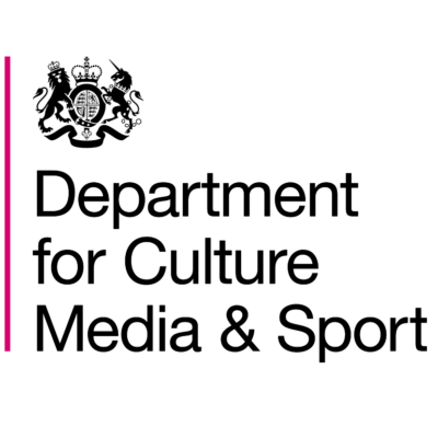 Logo for The Department for Digital, Culture, Media & Sport (DCMS)