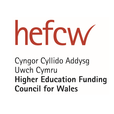 Logo for Higher Education Funding Council for Wales (HEFCW)