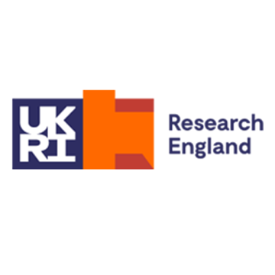 Logo for Research England, UK Research and Innovation